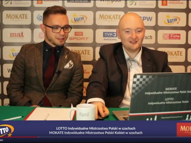 Mistrzostwa Polski w szachach - Wyniki. FM Mateusz Bronowicki w roli komentatora zawodów.